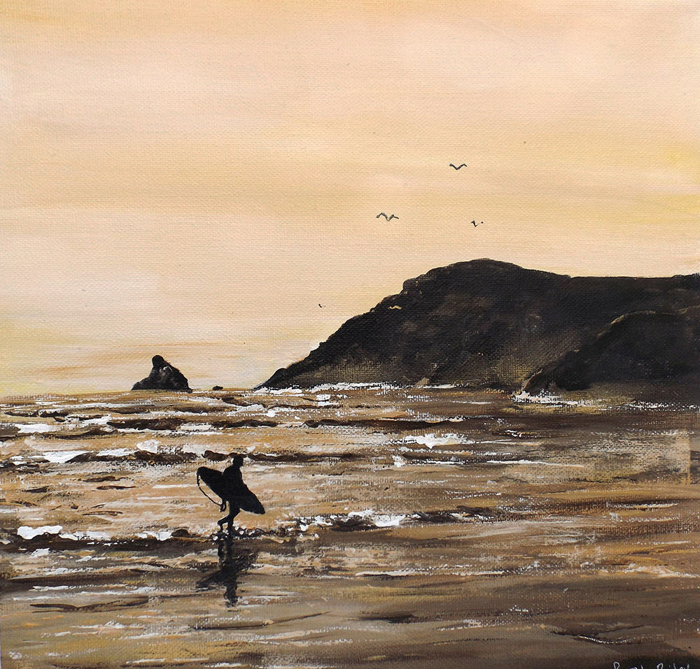 Evening Surf Original Acrylic Painting