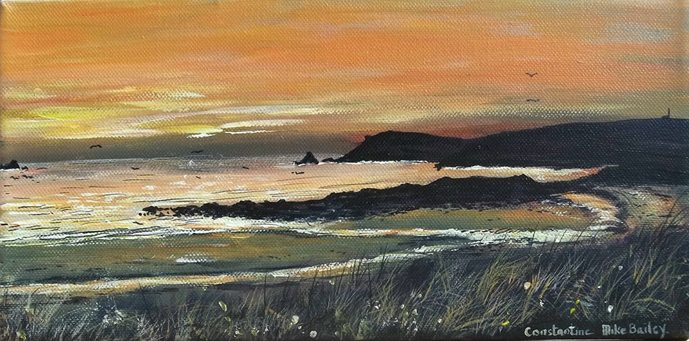 Constantine Bay Sunset giclee canvas print by Mike Bailey