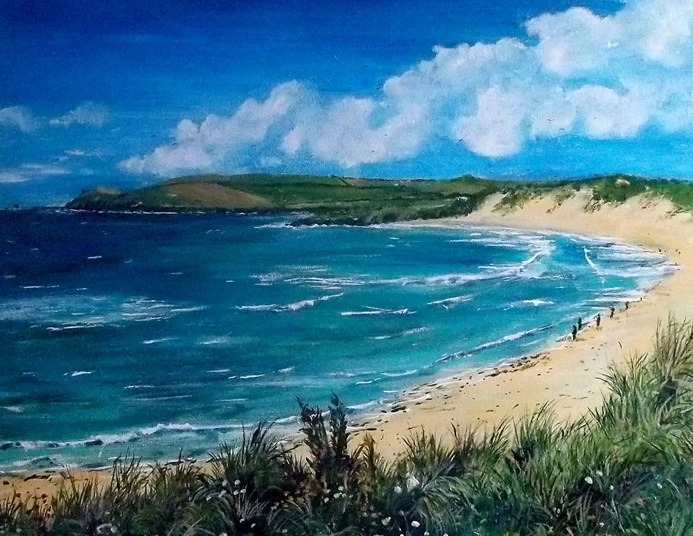 Constantine Bay giclee canvas print by Mike Bailey